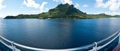 The lagoon of Bora Bora, Society Islands, French Polynesia, South Pacific