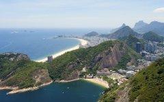 Copacabana Beach from Sugar Loaf Mountain, Rio de Janeiro, Brazil