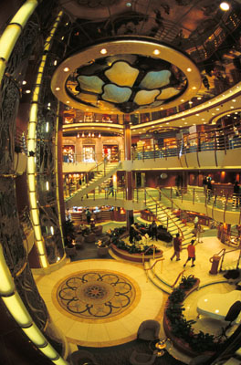 Cruise ship foyer